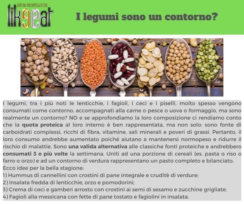 I legumi sono un contorno?